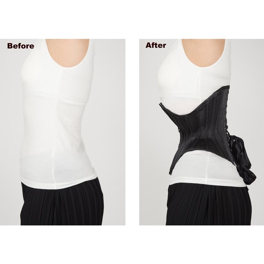 JFU-3(ピュアワン コルセット ワークス P.C.W)くびれ 肋骨 編み上げ おすすめ ゴシック ロリィタ ゴスロリ  ウエスト 拘束 アンダーバスト|pcw-corset|10