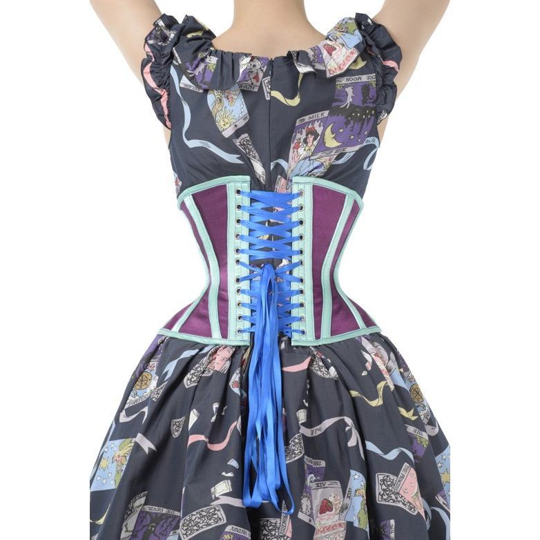 Shoe-2(ピュアワン コルセット ワークス P.C.W)くびれ 肋骨 効果 編み上げ 姿勢 ゴシック ロリィタ スチームパンク 締め アンダーバスト|pcw-corset|04