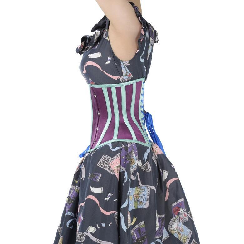 Shoe-2(ピュアワン コルセット ワークス P.C.W)くびれ 肋骨 効果 編み上げ 姿勢 ゴシック ロリィタ スチームパンク 締め アンダーバスト|pcw-corset|07