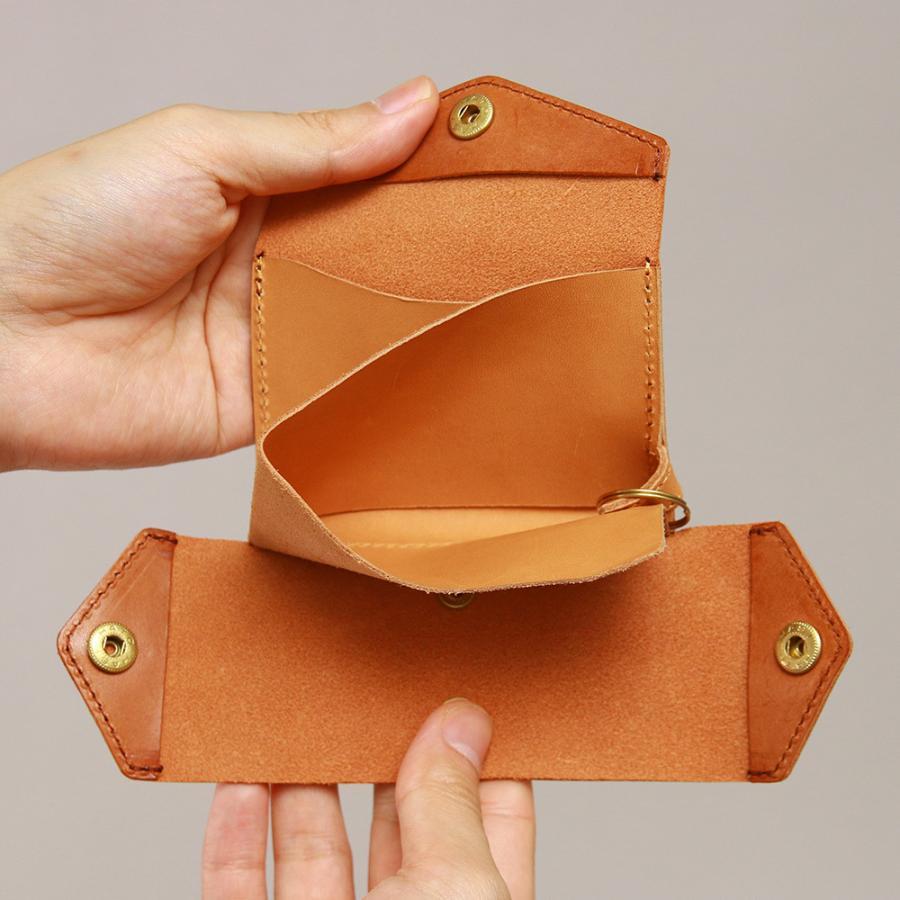財布 ミニ財布 小さい フラップ付き財布 キーリング付き コンパクト 革 本革 AGILITY affa アジリティアッファ パクパクウォレット|pdd|11