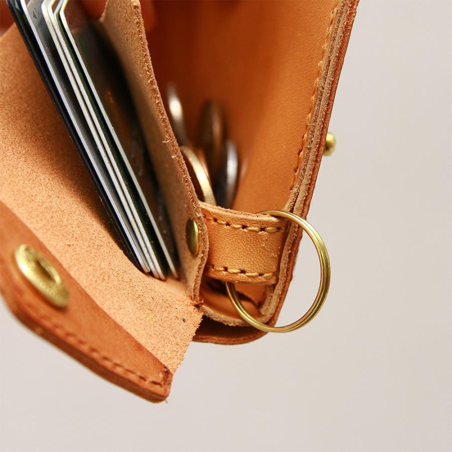 財布 ミニ財布 小さい フラップ付き財布 キーリング付き コンパクト 革 本革 AGILITY affa アジリティアッファ パクパクウォレット|pdd|13