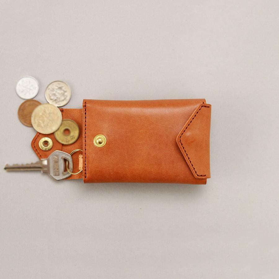 財布 ミニ財布 小さい フラップ付き財布 キーリング付き コンパクト 革 本革 AGILITY affa アジリティアッファ パクパクウォレット|pdd|18