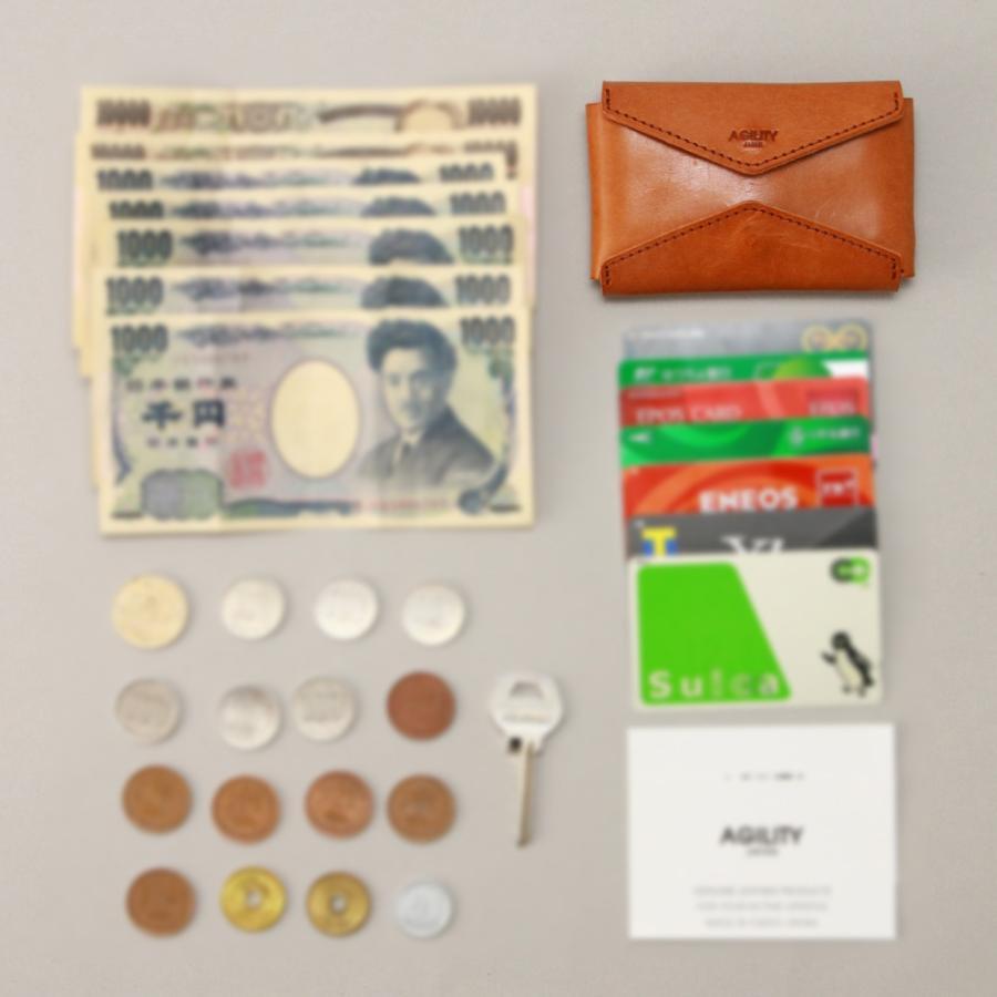 財布 ミニ財布 小さい フラップ付き財布 キーリング付き コンパクト 革 本革 AGILITY affa アジリティアッファ パクパクウォレット|pdd|19