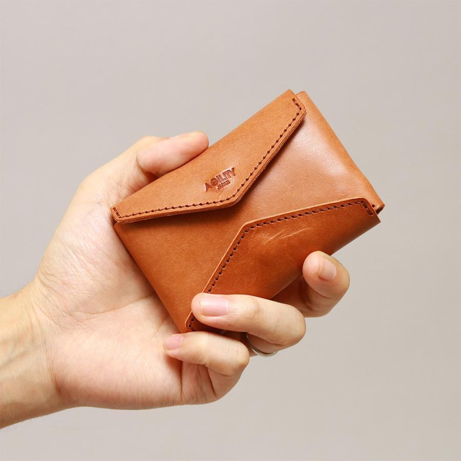 財布 ミニ財布 小さい フラップ付き財布 キーリング付き コンパクト 革 本革 AGILITY affa アジリティアッファ パクパクウォレット|pdd|20