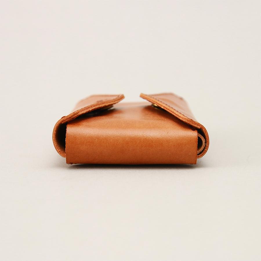 財布 ミニ財布 小さい フラップ付き財布 キーリング付き コンパクト 革 本革 AGILITY affa アジリティアッファ パクパクウォレット|pdd|08