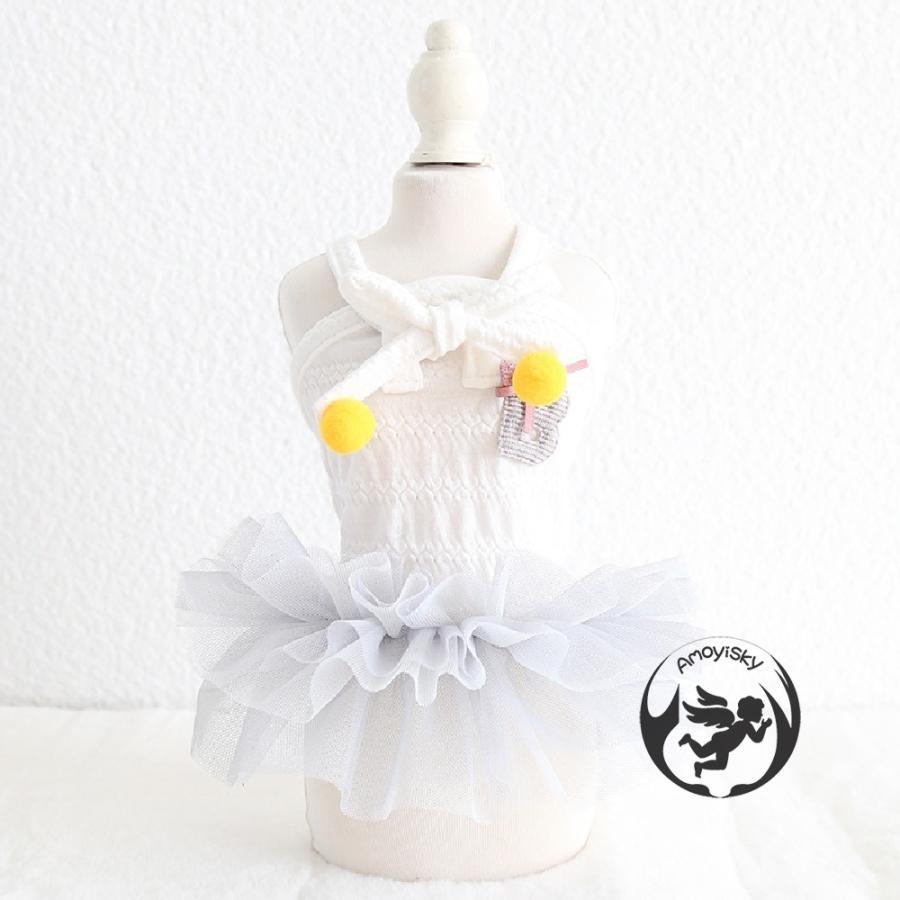 犬服 猫の服 ペット服 ペット用品 ドッグウェア 春夏 ワンピース コスプレ ドレス お姫様 フリル レース かわいい 小型犬 中型犬用 peachsumairu 08