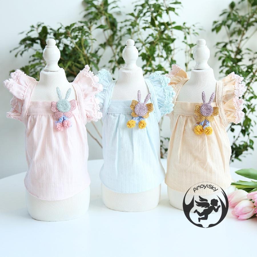 ワンピース ワンピ ドレス ドッグウェア 犬 猫 ペット 服 犬服 かわいい おしゃれ リボン レース 大人 可愛い ティアード イベント パーティー 撮影会|peachsumairu