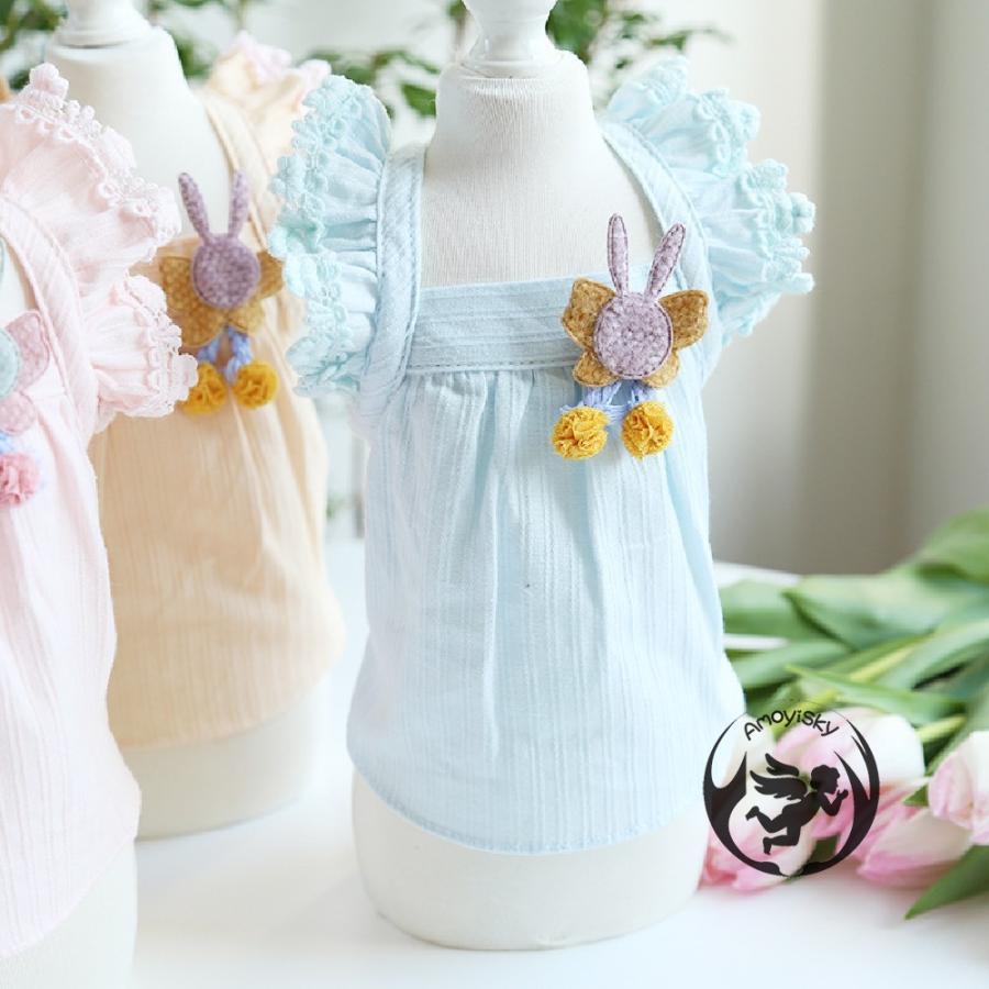ワンピース ワンピ ドレス ドッグウェア 犬 猫 ペット 服 犬服 かわいい おしゃれ リボン レース 大人 可愛い ティアード イベント パーティー 撮影会|peachsumairu|05