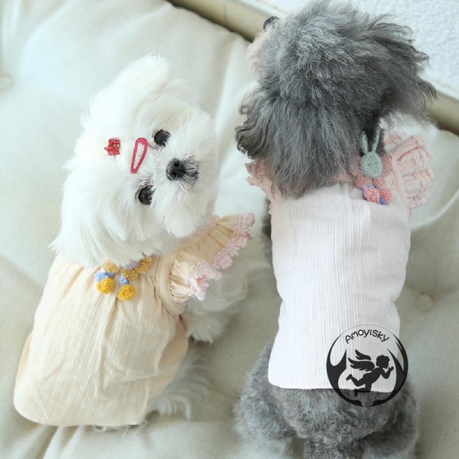 ワンピース ワンピ ドレス ドッグウェア 犬 猫 ペット 服 犬服 かわいい おしゃれ リボン レース 大人 可愛い ティアード イベント パーティー 撮影会|peachsumairu|08