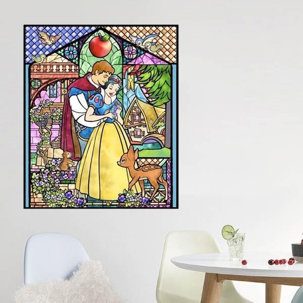 フル ダイヤモンド刺繍 キット ビーズ刺繍 ステンドグラス風 シンデレラ 白雪姫 美女と野獣 モザイクアート リハビリ 趣味 絵画 カラービーズ peachy 04