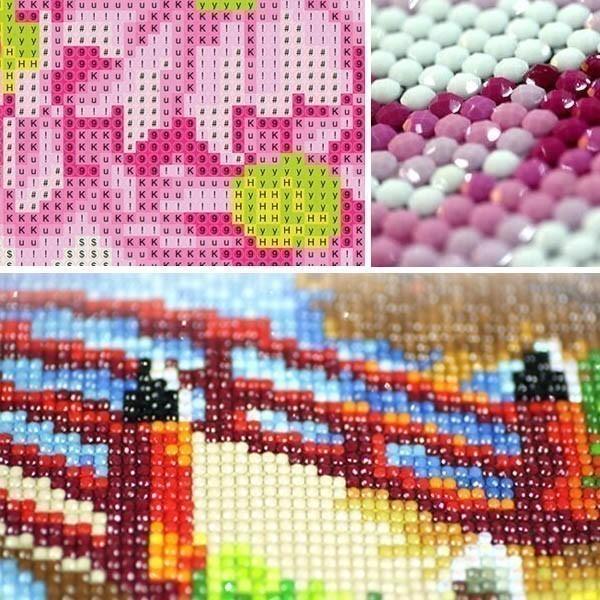 上級者向け フル ダイヤモンド刺繍 キット ビーズ刺繍 アジアンテイスト 鯉と蓮 スイレン モザイクアート パズルアート リハビリ カラービーズ peachy 04