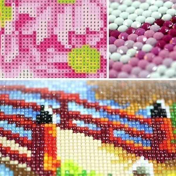 大型サイズ 上級者向け フル ダイヤモンド刺繍 キット ビーズ刺繍 ライチと鯉 アジアンテイスト 縁起物 モザイクアート パズルアート リハビリ peachy 04