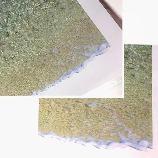 ウォールステッカー 床用 砂浜 海 だまし絵 トリックアート インテリアステッカー リアル 転写  DIY 剥がせる|peachy|05