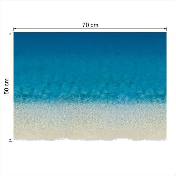 ウォールステッカー 床用 砂浜 海 だまし絵 トリックアート インテリアステッカー リアル 転写  DIY 剥がせる|peachy|06