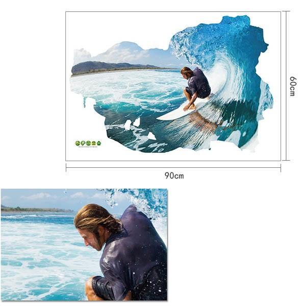 ウォールステッカー サーフィン 波乗り 海 アート インテリアシール 窓枠 壁デコレーション 北欧風 DIY リビング peachy 04