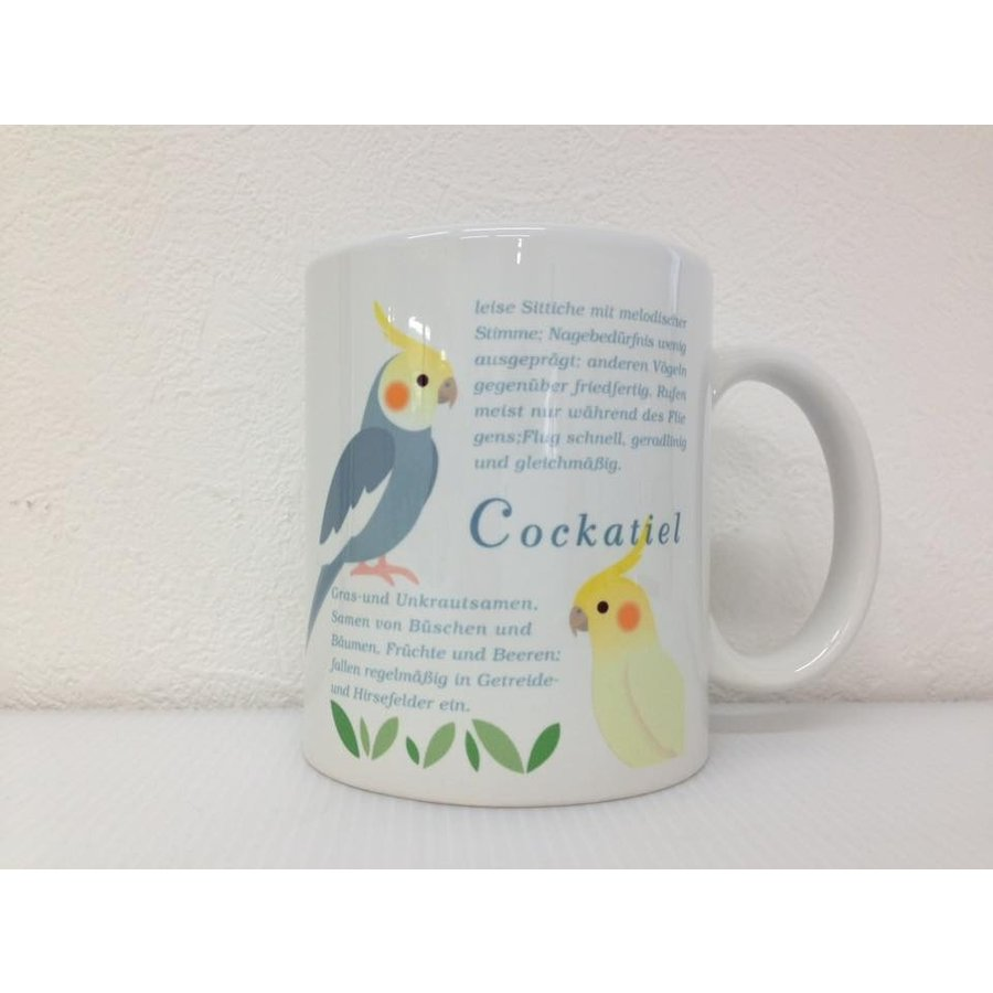 マグカップ【オカメインコ】かわいいインコのマグカップ♪コップ グラス コーヒーカップ|pearly