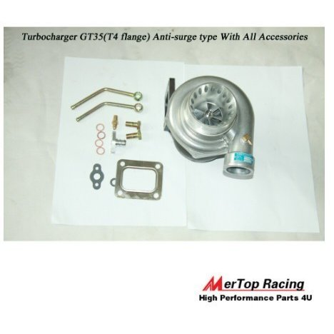 ターボチャージャー 4GT35ターボチャージャーアンチオーバーチャージ500+ HP 0.68 AR +オイルマウントドレイン
