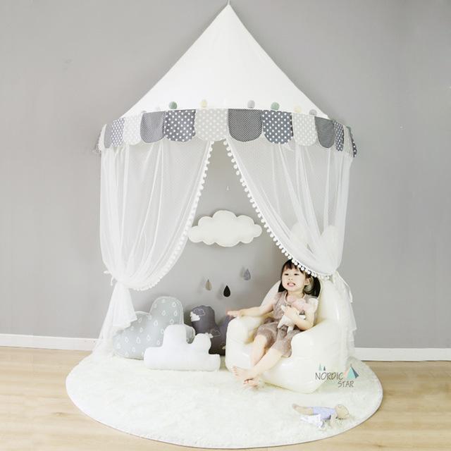 天蓋 キャノピー 子供部屋 キャノピー テント 折りたたみ式 テント キャノピーベッドカーテン|pekoma