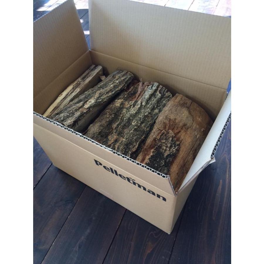 薪(ナラ) 山形県産  (約30cm) 20kg 一箱 薪ストーブ・焚き火・BBQに!|pelletman|02