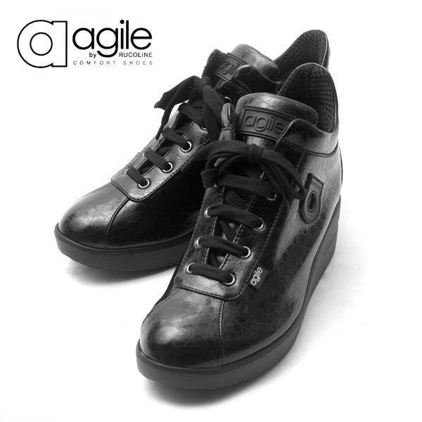 ルコライン 靴 アージレ agile by RUCO LINE 靴 Baby Croco ブラック 黒 agile-112 スニーカー アージレ バイ ルコライン pendant 03
