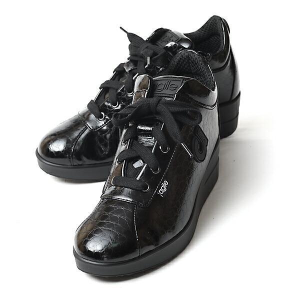 ルコライン 靴 アージレ agile by RUCO LINE 靴 Baby Croco ブラック 黒 agile-112 スニーカー アージレ バイ ルコライン pendant 08