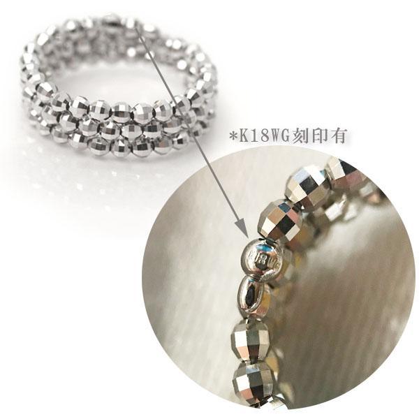 リング k18 ミラーボール コイルリング 形状記憶 チタンワイヤー入り フリーサイズ K18 指輪 18金 リング スパイラル リング K18WG /PG /K18MIXカラー|pendant|07