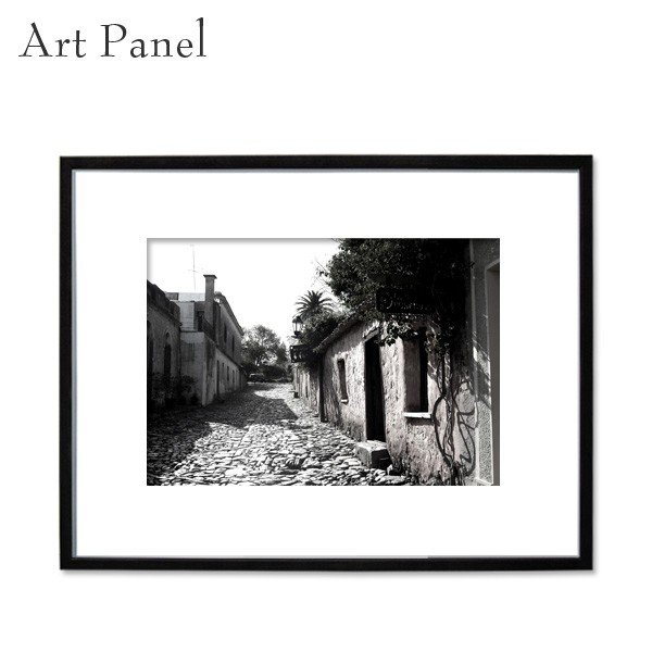 インテリアアートパネル 付属品充実 大きめ 大きめ 壁掛け レトロ 街 おしゃれ 風景 額 写真 絵画 ポスター