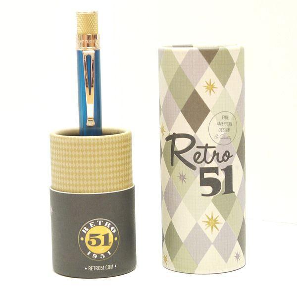 レトロ51 ボールペン トルネード ゴールドライン ピーコック/ゴールド|penpapi|05