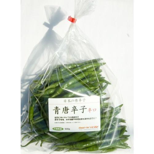 国産 生 青唐辛子 辛口 500g 生鮮品 千葉県産|pepperfriends|03