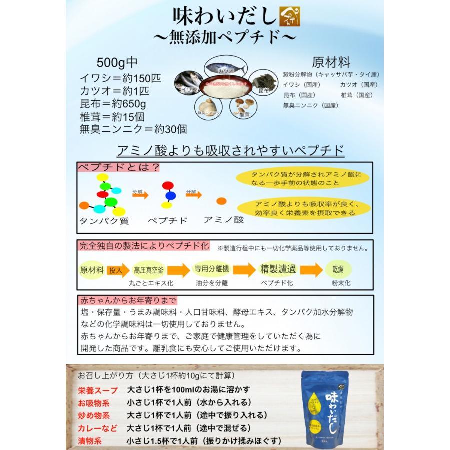 【無添加粉末ペプチドだしの極み】味わいだし 100g(10g×10包) peptiderip 06