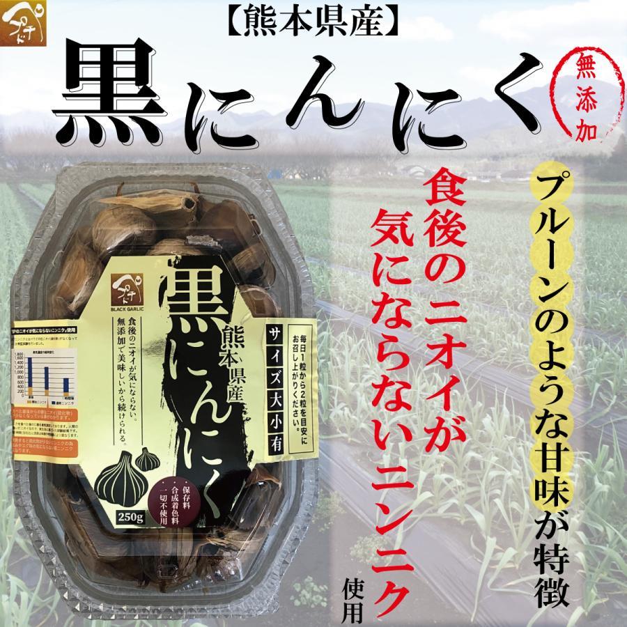 【熊本県産】黒ニンニク 250g入 無添加 食後のニオイが気にならないニンニク使用!|peptiderip