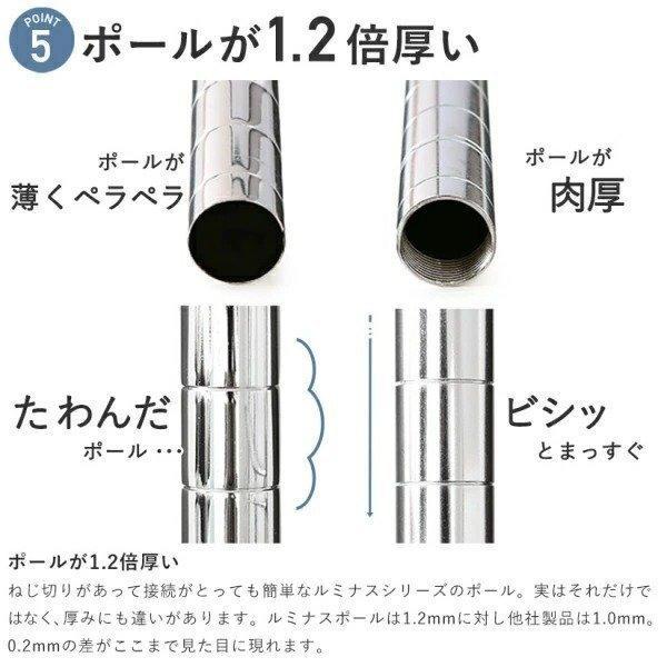 スチールラック  メタル ラック ルミナス メタルルミナス 幅120 奥行35 高さ180 5段 25mm EF25-12185|perfect-space|09