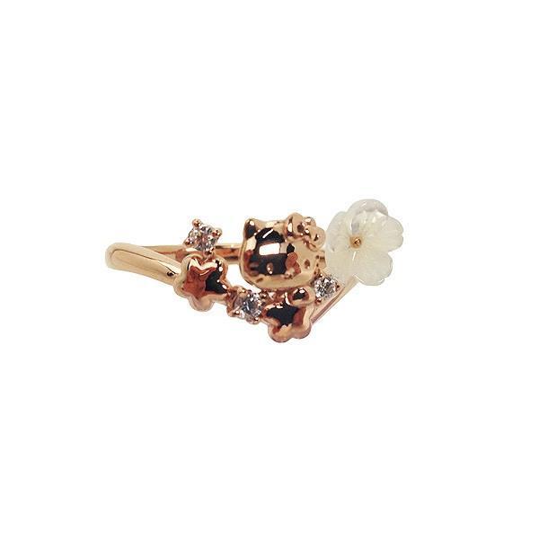 【超特価sale開催】 ハローキティ リング (指輪/アクセサリー) 13号 ピンクゴールド Flower Bouquet サンリオ, ユナイテッドオーク f315b7cb