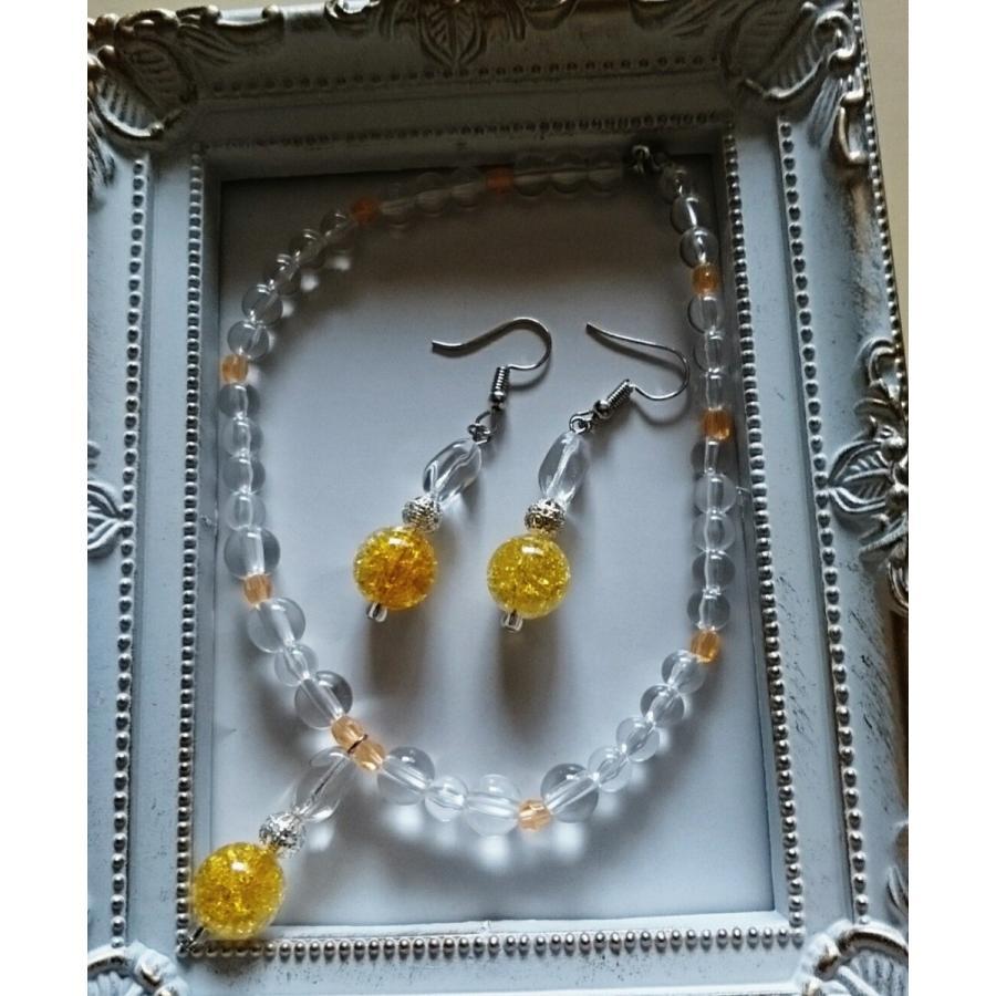犬用・猫用のネックレスと飼い主様のピアスorイヤリングがお揃い オシャレなアイテム(オレンジ)|pet-flower-chini|05