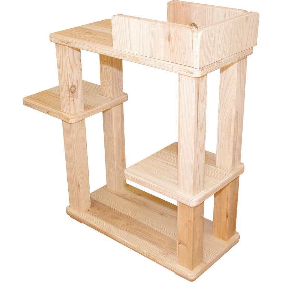 キャットタワー 木製 杉にゃん 据え置き  ビギン 全高約94cm おすすめ シニア 子猫 爪とぎ 1年保証 運動不足 おしゃれ 設置 簡単|pet-kagu-kagu|07