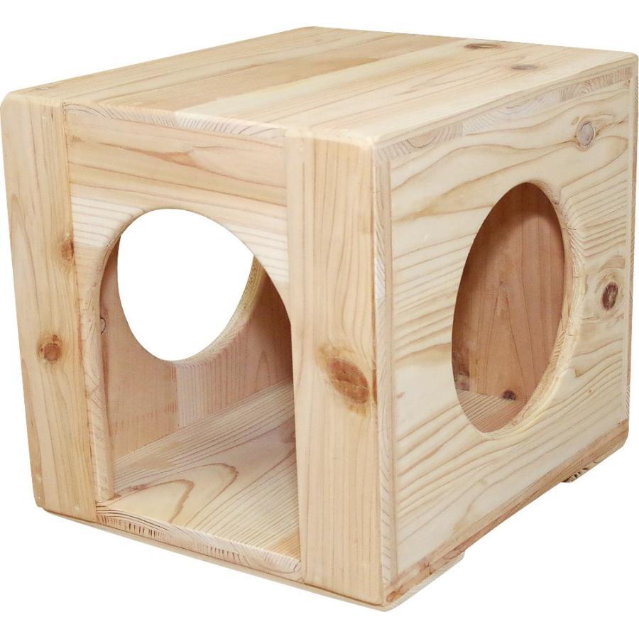猫ハウス ベッド ペット用品 木製 まったりぼっくす 毛が絡まない 清潔 室内 爪とぎ 自然素材 健康 安心 手作り|pet-kagu-kagu|02