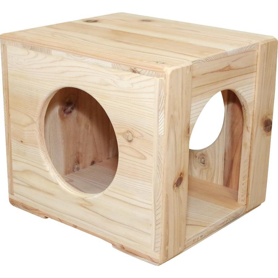 猫ハウス ベッド ペット用品 木製 まったりぼっくす 毛が絡まない 清潔 室内 爪とぎ 自然素材 健康 安心 手作り|pet-kagu-kagu|03