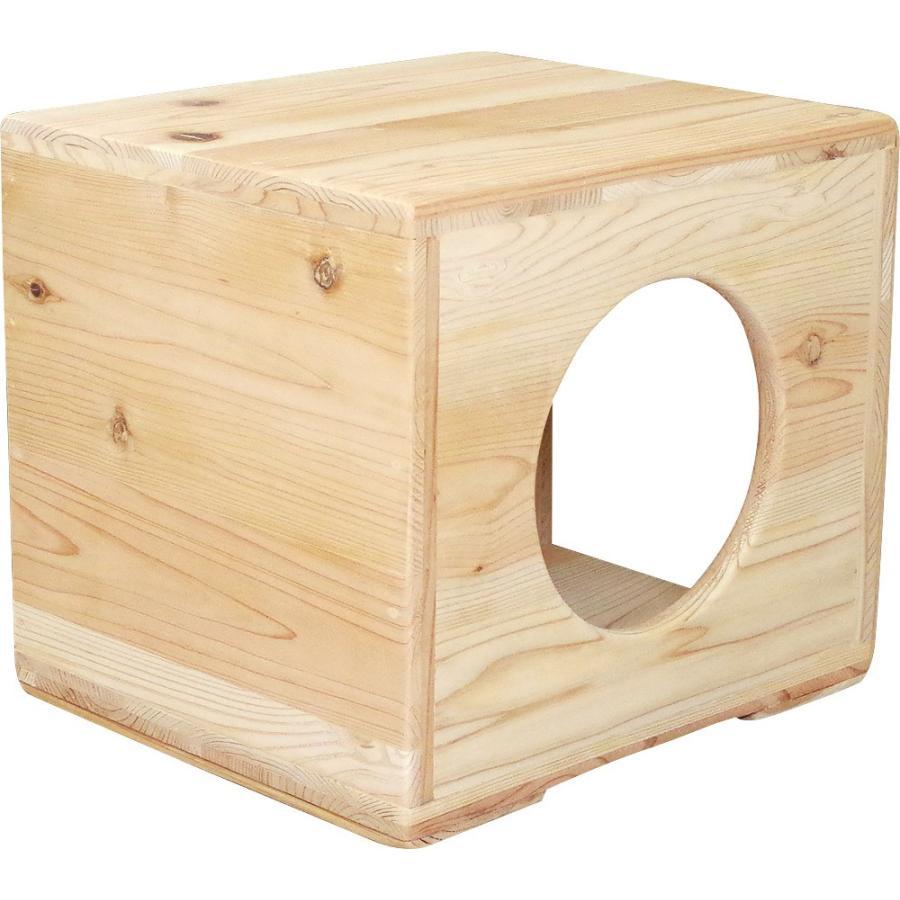 猫ハウス ベッド ペット用品 木製 まったりぼっくす 毛が絡まない 清潔 室内 爪とぎ 自然素材 健康 安心 手作り|pet-kagu-kagu|04