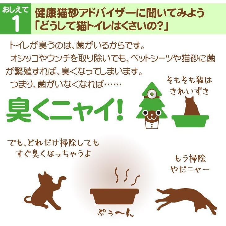 猫砂 命の猫砂 杉にゃん 小粒タイプ(ベビー) 3kg/1袋 成猫1匹約1ヶ月分 初めての猫向け 無添加 固まらない 流せる オーガニック 安心 安全 消臭 殺菌|pet-kagu-kagu|03