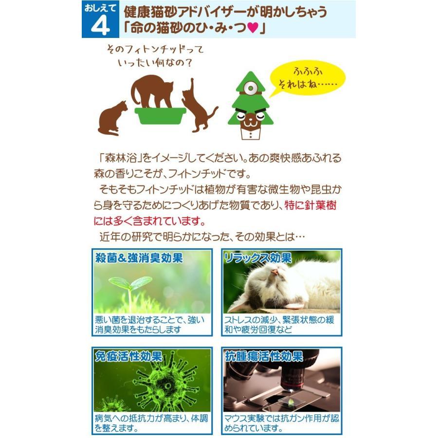 猫砂 命の猫砂 杉にゃん 小粒タイプ(ベビー) 3kg/1袋 成猫1匹約1ヶ月分 初めての猫向け 無添加 固まらない 流せる オーガニック 安心 安全 消臭 殺菌|pet-kagu-kagu|06