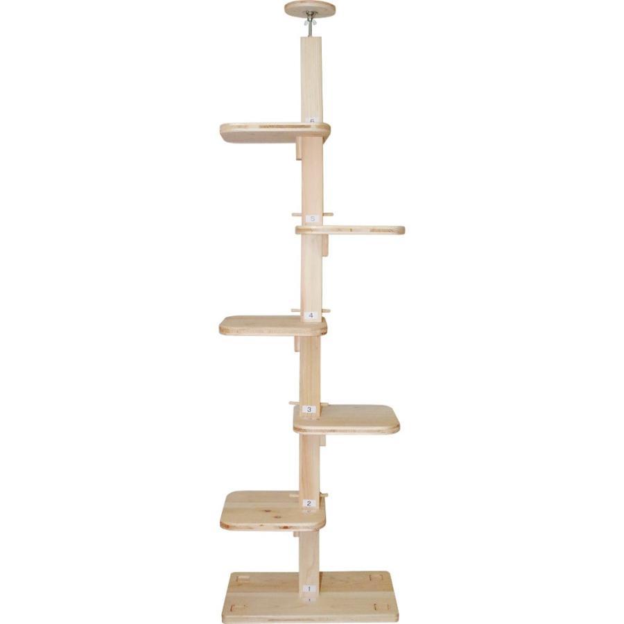 キャットタワー 木製 杉にゃん 突っ張り リプレS 全高220-270cm スリム 省スペース おすすめ 1年保証 運動不足 おしゃれ pet-kagu-kagu 05