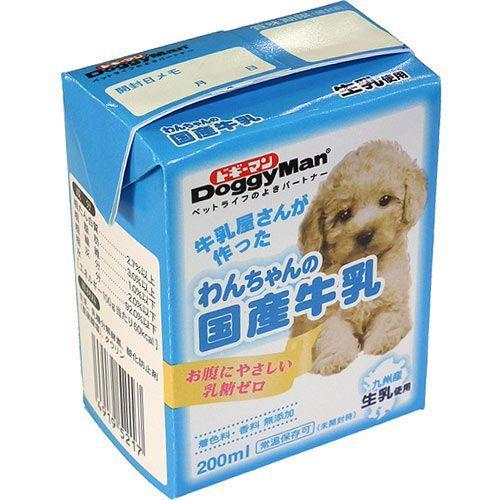 ドギーマン 犬用ミルク わんちゃんの国産牛乳 200ml|pet-square