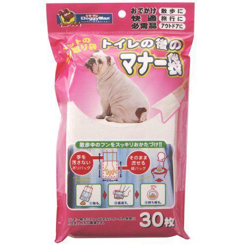 うんち袋 犬のウンチ処理袋 トイレに流せるうんち袋 30枚入 ドギーマン(散歩 マナー袋 マナーパック ウンチポイ ポイ太くん) pet-square 02