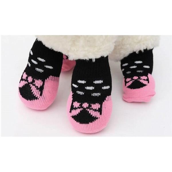 送料無料!犬の靴下 愛犬用ソックス 滑り止め付き 5種類セット 靴 シューズ ブーツ ドッグソックス 犬服(代引き不可・通常商品と同梱不可)|pet-square|02