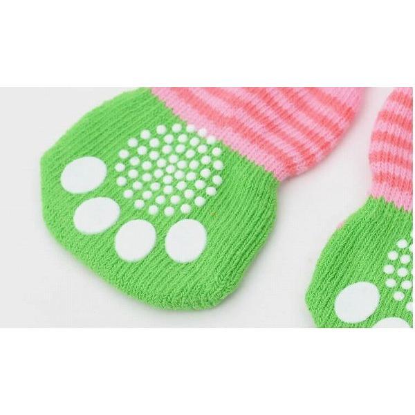 送料無料!犬の靴下 愛犬用ソックス 滑り止め付き 5種類セット 靴 シューズ ブーツ ドッグソックス 犬服(代引き不可・通常商品と同梱不可)|pet-square|03