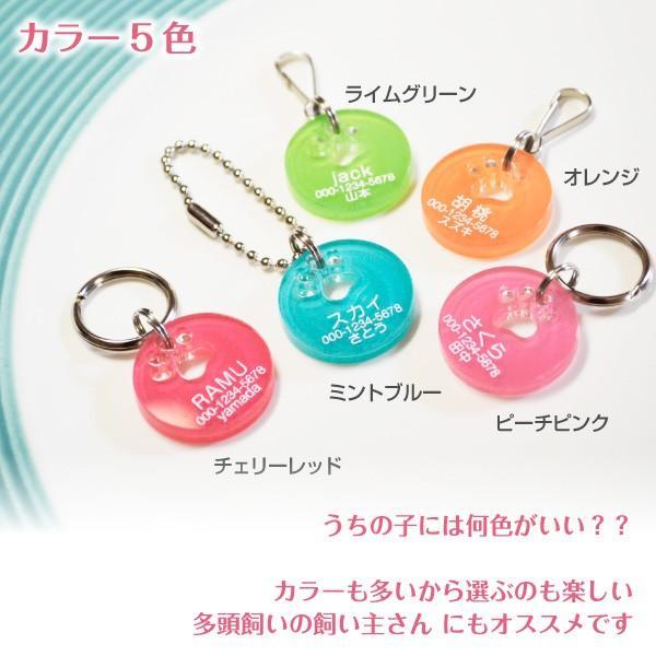 犬・猫の迷子札 キャンディカラー肉球迷子札「片面彫刻」 petgp 02