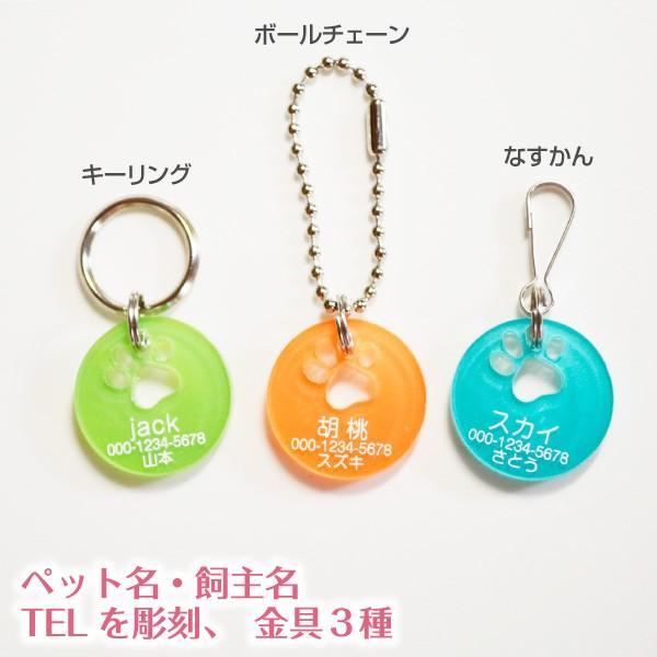 犬・猫の迷子札 キャンディカラー肉球迷子札「片面彫刻」 petgp 04