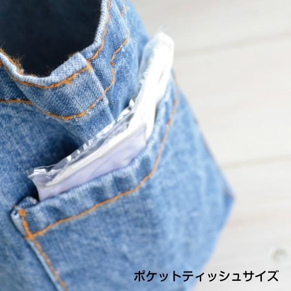 デニムお散歩バッグ フロッキー トートバッグ おすわりわんこ・にゃんこシリーズ|petgp|09