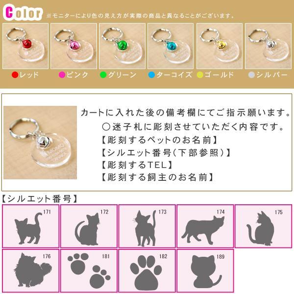 猫の迷子札「サークル型鈴付き」透明アクリルにカラフルな鈴付き petgp 02