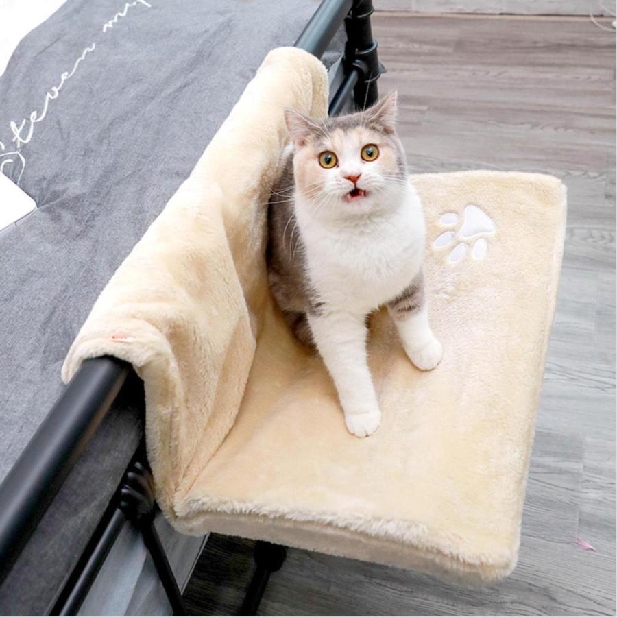 猫用 ハンモック キャットベッド お昼寝 椅子掛け 猫ベッド マット もこもこ ソファー 手すり 窓辺掛 椅子掛 ケージ掛 ケージ内に掛けられる 丸洗い petshopbelfa 02